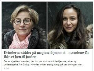 """Berlingske er i dag gået viralt med en """"tophistorie"""" om magten i hjemmet, en undersøgelse som vi i #farsunivers også priser for sin humoristiske sans"""